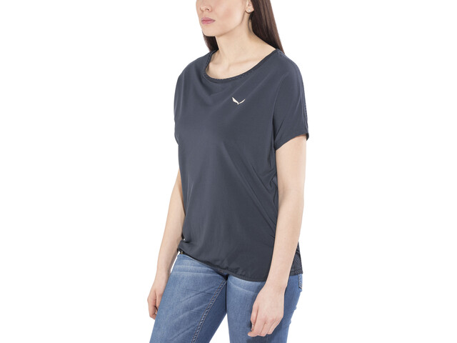 SALEWA Puez Hybrid Dry T-shirt Femme, night black/8675